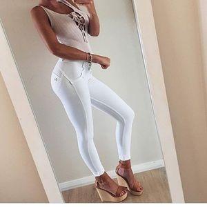 Flattering white pants